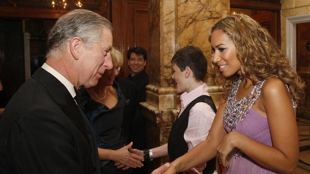 Leona Lewis is expected to perform at the event attended by the Prince of Wales