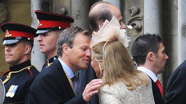 Tom Bradby arriving at the wedding of the Duke and Duchess of Cambridge