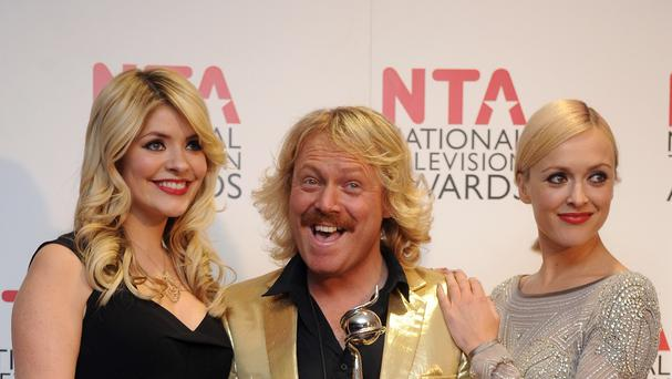 Holly Willoughby, Leigh Francis aka Keith Lemon and Fern Cotton, from Celebrity Juice