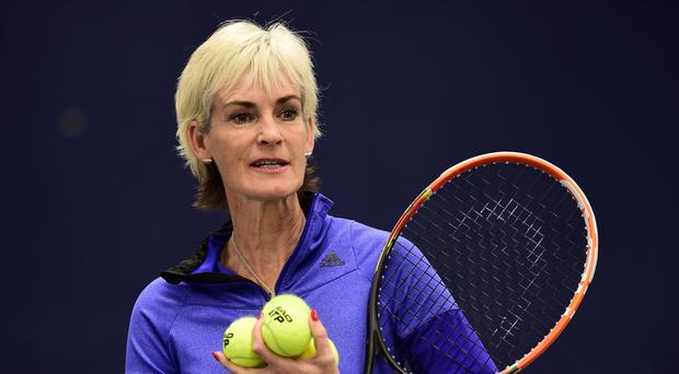 Judy Murray is looking forward to her first grandchild