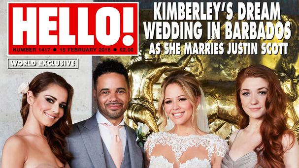 Kimberley Walsh has been speaking about her Barbados wedding (Hello!/PA)