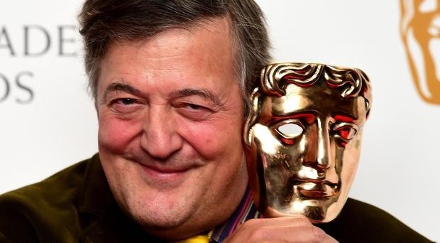 Stephen Fry was the host of the EE British Academy Film Awards in London on Sunday