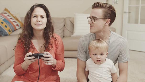 Tom Fletcher and his wife Giovanna announce on YouTube that they are to become parents for the second time (YouTube/PA)