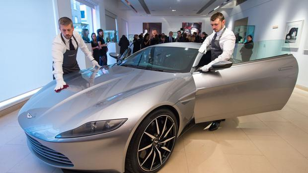 The Aston Martin DB10 from the James Bond film Spectre sold for over £2.4 million at a charity auction