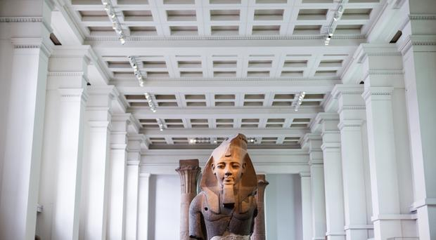 A statue of Ramesses II, aka Ramesses the Great