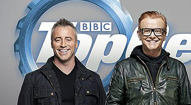Chris Evans and Matt LeBlanc kicked off filming the first episode of the new Top Gear series with a trip to Blackpool (BBC/PA)
