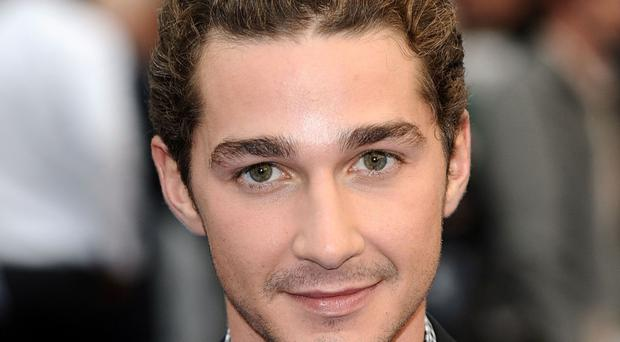 Shia LaBeouf, who is occupying a lift in Oxford as part of an arts performance.