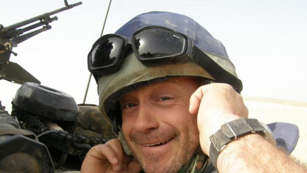 Ross Kemp was one of a number of visitors to the helicopter in Afghanistan in 2008