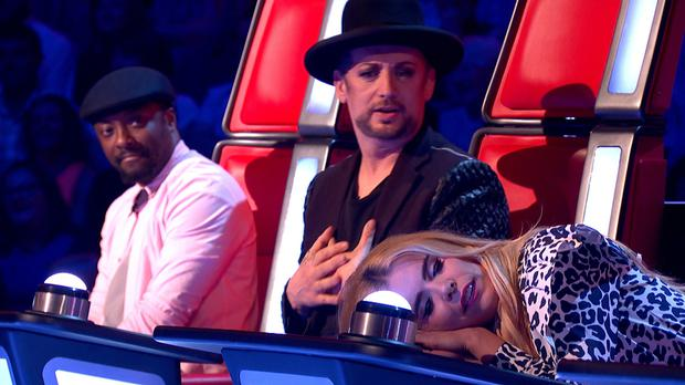 The Voice coaches will.i.am, Boy George and Paloma Faith