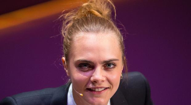 Cara Delevingne voiced concerns about a Facebook 'dislike' button