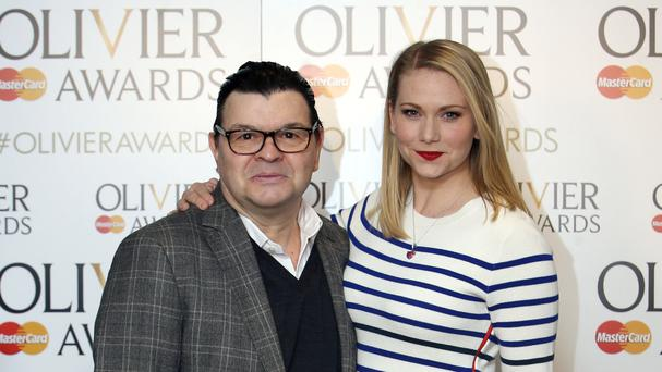 Mrs Henderson Presents cast members James Foreman and Emma Williams attend the Olivier Awards 2016 nominations announcement