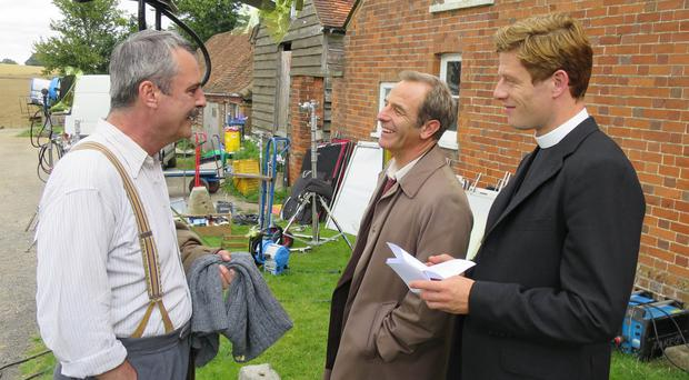 Neil Morrissey, left, is about to return to screens in the second series of Grantchester (ITV/PA)