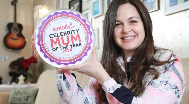 Giovanna Fletcher has been named Celebrity Mum of the Year 2016 by Icelolly.com