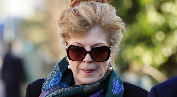 Rula Lenska arrives at Wimbledon Magistrates' Court, where she was fined for drink driving