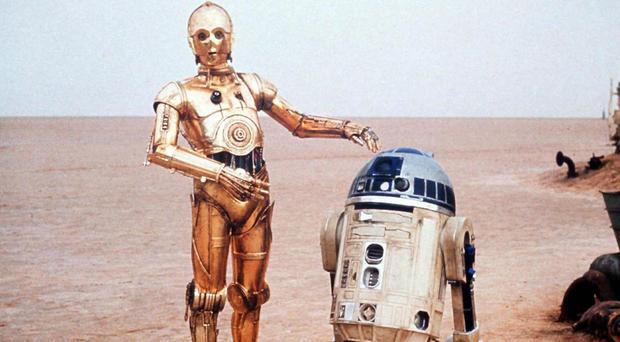 R2-D2, right, with C3PO