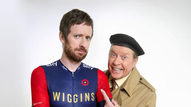 Michael Crawford is reprising his 1970s character Frank Spencer in a collaboration with Sir Bradley Wiggins for Sport Relief