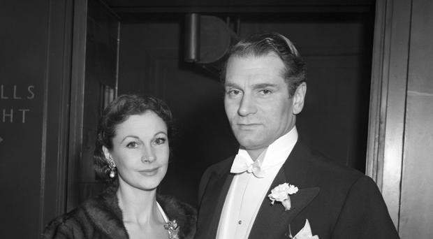 Sir Laurence Olivier and his wife, Vivien Leigh at the Cambridge Theatre, London