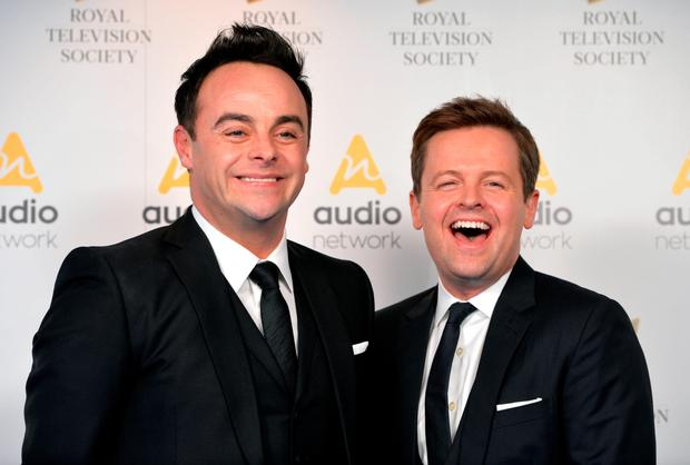 Ant and Dec arrive for the awards