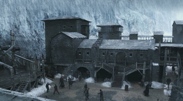 The Game of Thrones Castle Black set at Magheramorne Quarry