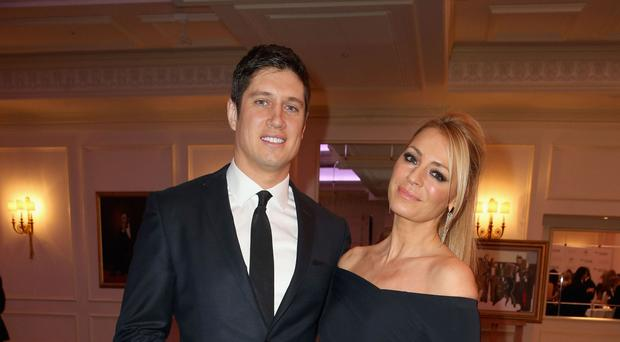 Vernon Kay with his wife Tess Daly