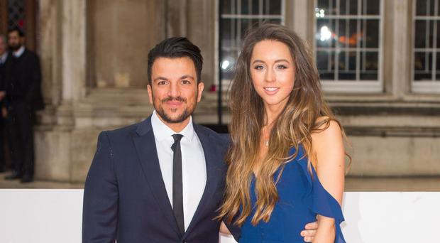 Peter Andre and Emily MacDonagh pictured at the Sun Military Awards in London