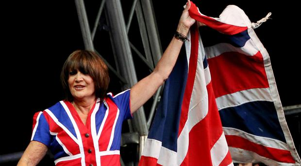 Sandie Shaw is happy to wrap herself in the EU flag as well as the Union Flag
