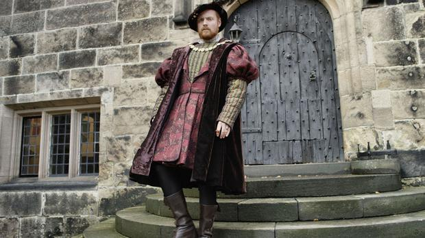 Former Albert Square resident Charlie Clements as Henry VIII (Channel 5)
