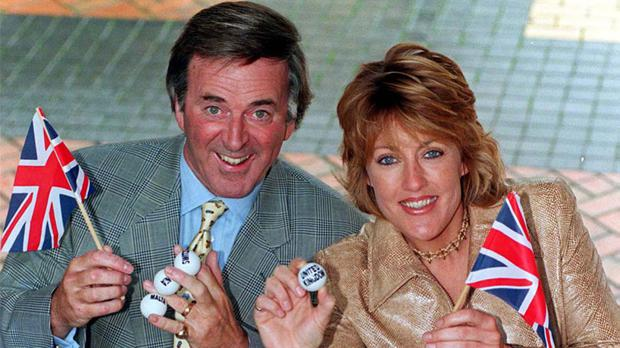 Terry Wogan and Eurovision Song Contest winner Katrina Leskanich of Katrina and the Waves