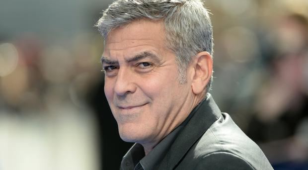 George Clooney, who joined the president of Armenia Serzh Sargsyan at the ceremony