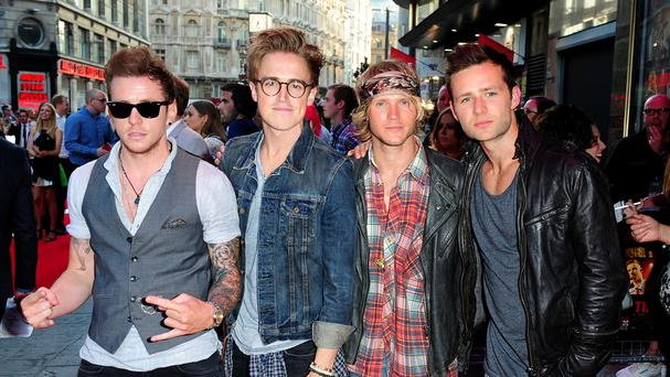 McFly members (L-R) Danny Jones, Tom Fletcher, Dougie Poynter and Harry Judd who are re-forming for a reunion tour