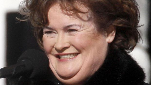 Police led Susan Boyle away after a disturbance in a lounge at Heathrow Airport