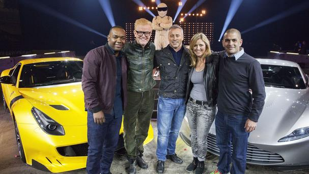 Rory Reid, left, with the line-up of Top Gear presenters