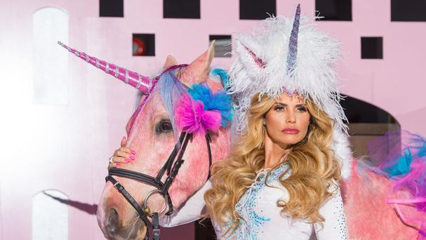 Katie Price during a photocall to launch her new reality television show, Katie Price's Pony Club, at The Worx in London