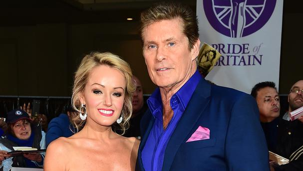 David Hasselhoff and Hayley Roberts are engaged