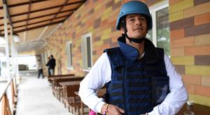 Goodwill Ambassador Orlando Bloom preparing to travel near the frontline of the conflict in eastern Ukraine (Unicef/PA)