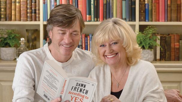 Richard Madeley and Judy Finnigan are recommending new books to readers this summer, including Dawn French's latest novel According To Yes (WHSmith/PA)
