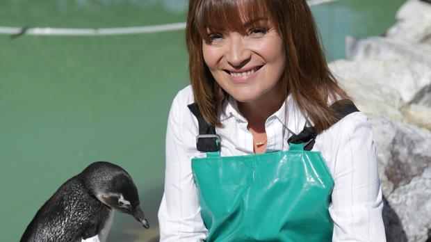 Lorraine Kelly at a penguin rescue centre in Cape Town, South Africa (Remedy Productions/Channel 5/PA)