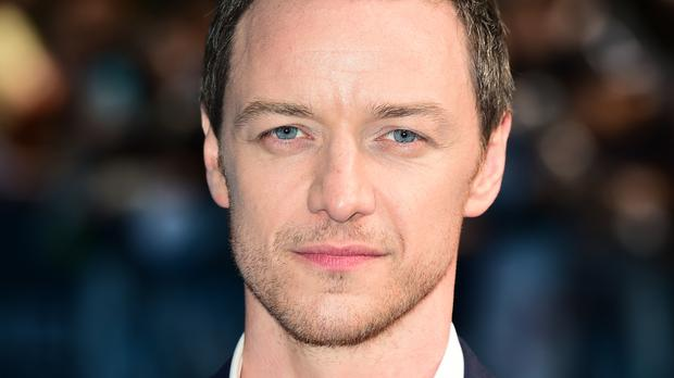 James McAvoy said a bag of his hair was given to Sir Patrick Stewart