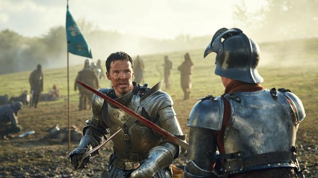 Benedict Cumberbatch as Richard III in the concluding part of the BBC Two adaptations of Shakespeare's history plays
