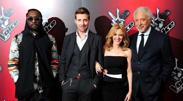 Kylie was part of The Voice's panel in series three