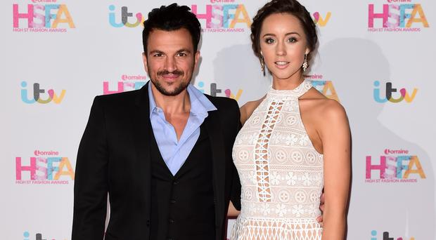 Peter Andre and his wife Emily MacDonagh at the Lorraine High Street Fashion Awards