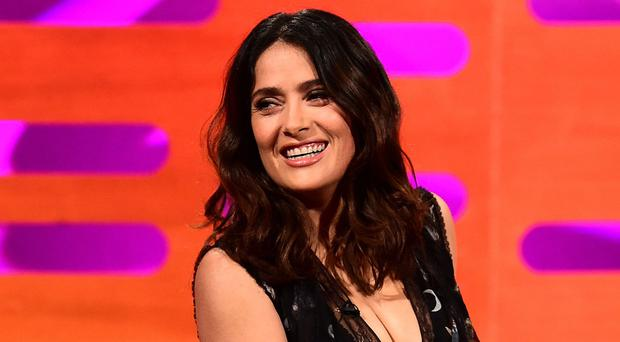 The actress met the Catholic Church leader at the Vatican on Sunday when she was awarded a medal alongside stars George Clooney and Richard Gere