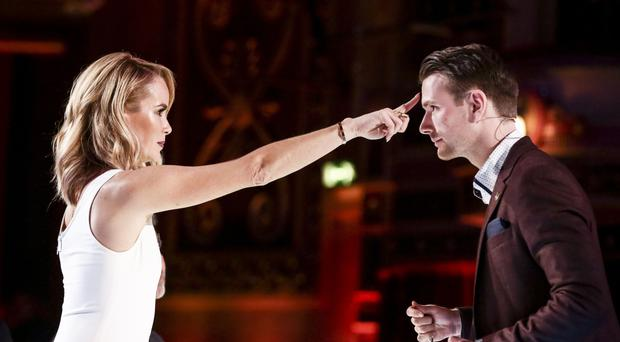 Richard Jones with Amanda Holden during the auditions (Syco/Thames)