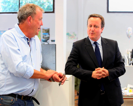 Jeremy Clarkson with Prime Minister David Cameron in London yesterday