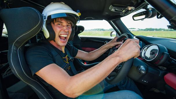 Professor Brian Cox on Top Gear as the Star in the Rally Cross car (BBC/PA)