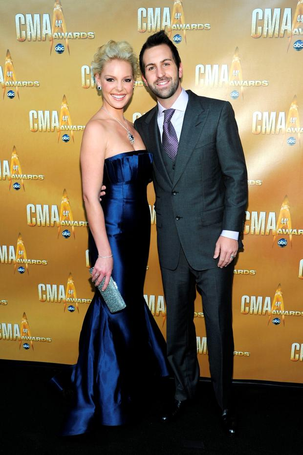 Delighted: Katherine Heigl and Josh Kelley