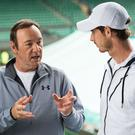 Kevin Spacey and Andy Murray on Centre Court