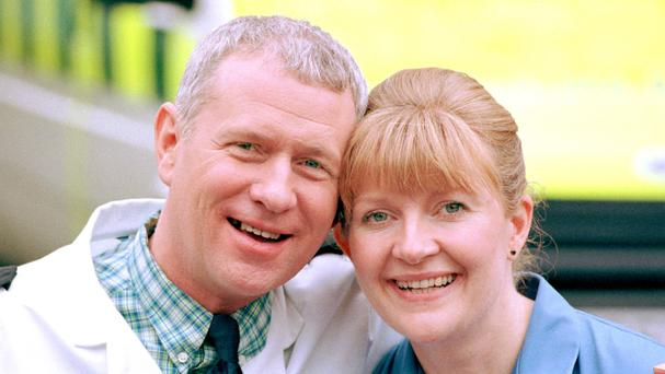 Casualty veterans Derek Thompson and Cathy Shipton
