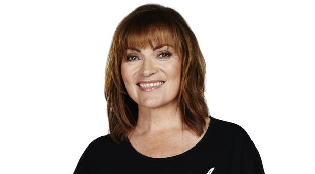 Lorraine Kelly wearing the black-and-white top created by 29-year-old Katherine Garbutt (PA/Jeans for Genes)