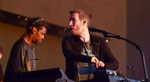 Massive Attack perform at the British Summer Time festival